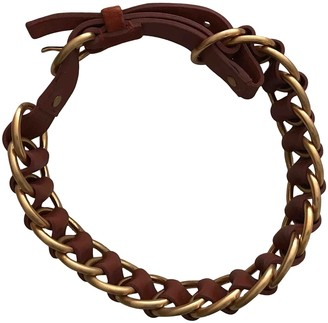 Miu Miu Brown Leather Necklaces
