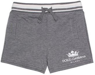 Dolce & Gabbana Baby cotton-blend shorts