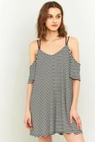 Sparkle & Fade Striped Cold Shoulder Dress