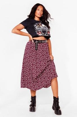 Nasty Gal Womens Leaf It to Me Plus Midi Skirt - Burgundy