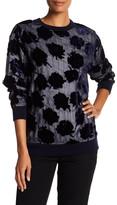 DKNY Velvet Flower Quilted Pullover