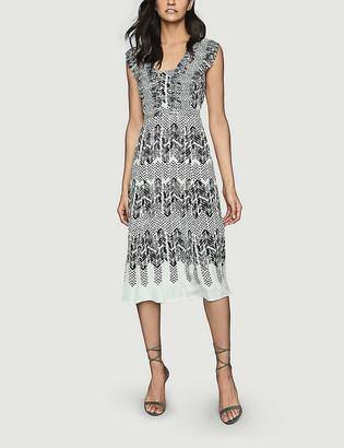 Reiss Avery abstract-print crepe midi dress