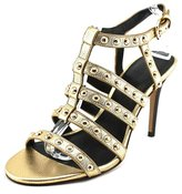 Coach Rose Metallic Tumbled Women US 9 Gold Sandals