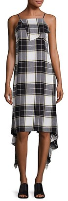 Public School Lilu Draped Plaid Dress