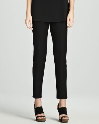 Eileen Fisher Slim Stretch Crepe Ankle Pants, Women's