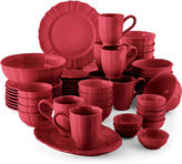 JCP HOME JCPenney HomeTM Ashley Scalloped Stoneware 50-pc. Dinnerware Set - Service for 8