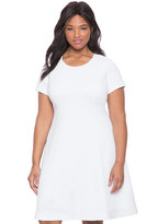 ELOQUII Plus Size Textured Knit A-line Dress