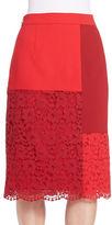 DKNY Mixed Media Pencil Skirt