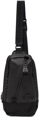 Master-piece Co Black Slick Shoulder Backpack