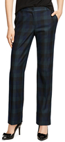Brooks Brothers Lucia Fit Wool Plaid Trousers