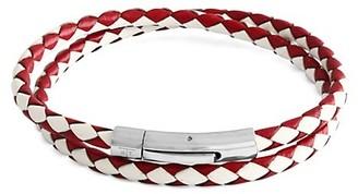 Tateossian Stainless Steel Leather Bracelet