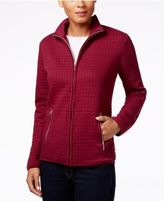 Karen Scott Quilted Zipper-Front Jacket, Only at Macy's