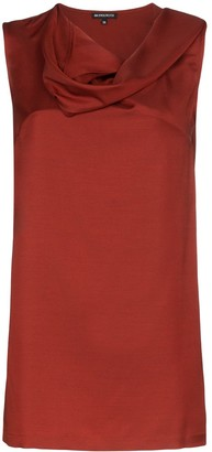 Ann Demeulemeester Cowl-Neck Sleeveless Blouse