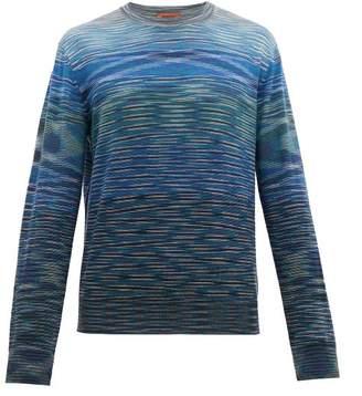 Missoni Striped Crew Neck Wool Sweater - Mens - Blue Multi