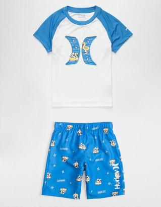 Hurley Shark Floatie Little Boys Blue Swim Set (4-7)