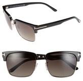 Tom Ford Women's 'River' 57Mm Polarized Vintage Square Sunglasses - Black/ Rose Gold/ Grey
