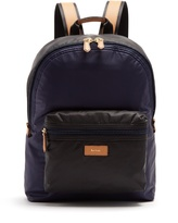 Paul Smith Tri-colour leather-trimmed nylon backpack