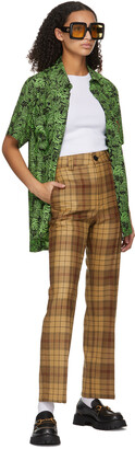 SSENSE WORKS SSENSE Exclusive Jeremy O. Harris Brown Check Cropped Trousers