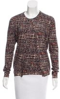 Dolce & Gabbana Abstract Patterned Virgin Wool Cardigan