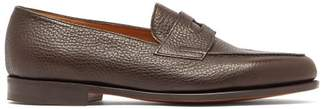 John Lobb Lopez Grained-leather Penny Loafers - Mens - Brown