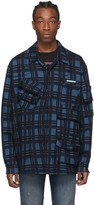 Off-White Off White Blue Check Voyager Long Sleeve Shirt