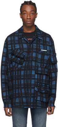 Off-White Blue Check Voyager Long Sleeve Shirt