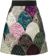 Dolce & Gabbana a-line jacquard mini-skirt