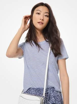 MICHAEL Michael Kors Striped Cotton T-Shirt