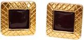 Chanel Baroque Red Metal Earrings
