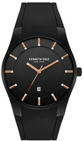 Kenneth Cole Slim Silicon Strap Round Watch
