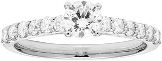Platinum 1 Carat T.W. IGL Certified Diamond Engagement Ring