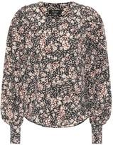 Isabel Marant Berny printed stretch-silk shirt