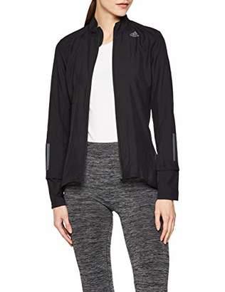 adidas Women's Response Jacket Sports, Nero Black, (Size: Medium)