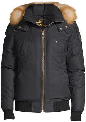 Moose Knuckles Little Rapids Fox Fur-Trim Down Bomber Jacket