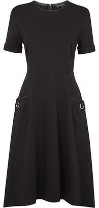 James Lakeland Pocket Leather Detail Midi Dress