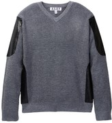 Isaac Mizrahi Sweater with Faux-Leather Sides (Toddler, Little Boys, & Big Boys)