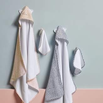 west elm Dot Bath Wrap + Washcloth Sets