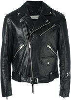 Golden Goose Deluxe Brand Golden biker jacket - men - Cotton/Calf Leather/Viscose - L