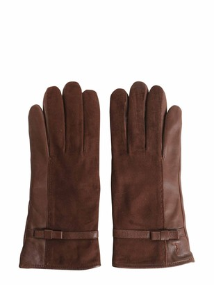 Tru Trussardi Nappa And Suede Gloves
