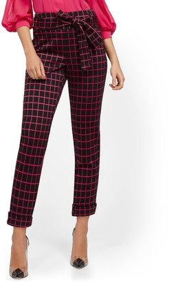 New York & Co. High-Waisted Pull-On Pant - Plaid