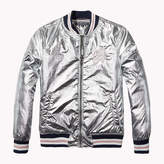 Tommy Hilfiger Foil-Coated Varsity Jacket