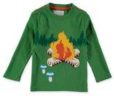 Rockin' Baby Campfire Applique T-Shirt in Green