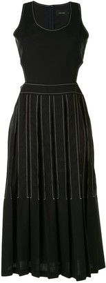 Low Classic Cut-Out Pleated Dress