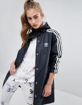 adidas Three Stripe Hooded Rain Jacket