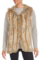 Saks Fifth Avenue Rabbit Fur Hooded Vest