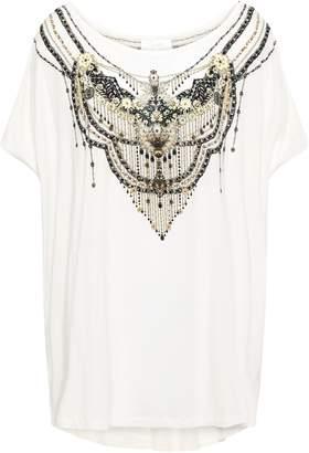 Camilla Geisha Girl Oversized Crystal-embellished Printed Stretch-modal T-shirt