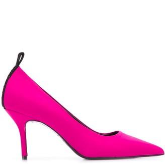 Karl Lagerfeld Paris x Carine satin pumps