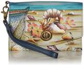 Anuschka Anna By Anna by Vintage Wristlet Clutch | Genuine Leather | Caribbean Dream