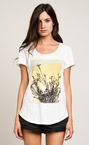 RVCA Junior's Last Flowers Loose Fit Graphic Tee