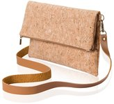 Marks Collection Mini Cork Fold Over Casual Purse Cross Body Bag Handbag Lining With Zipper Artificial Leather Shoulder Strap